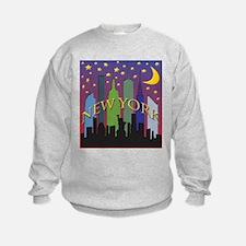 New York City Skyline rainbow Sweatshirt