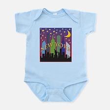 New York City Skyline rainbow Infant Bodysuit
