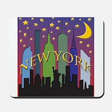New York City Skyline rainbow Mousepad