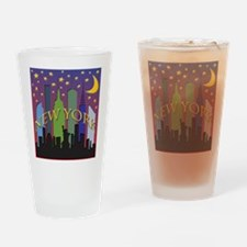 New York City Skyline rainbow Drinking Glass