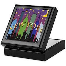 New York City Skyline rainbow Keepsake Box