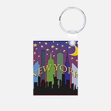 New York City Skyline rainbow Keychains