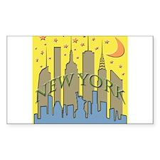 New York City Skyline brighton Decal
