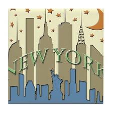 New York City Skyline beachy Tile Coaster