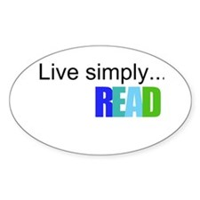 Live simply...READ Decal