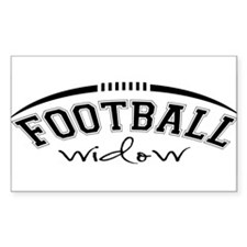 Football Widow Decal