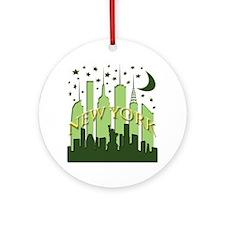 New York Skyline fresh Ornament (Round)