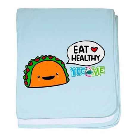 Eat healthy by yogome baby blanket