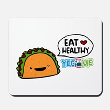 Eat healthy by yogome Mousepad