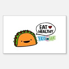 Eat healthy by yogome Decal