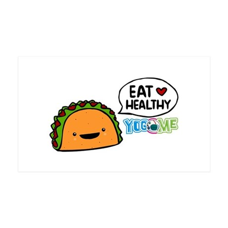 Eat healthy by yogome 35x21 Wall Decal