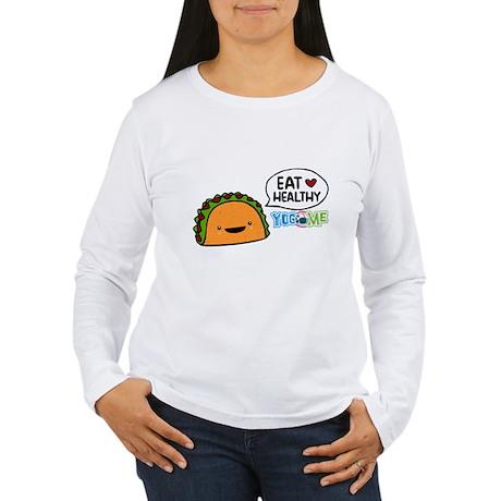 Eat healthy by yogome Women's Long Sleeve T-Shirt