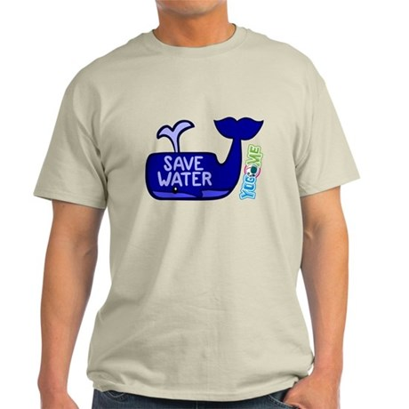 Save Water by Yogome Light T-Shirt