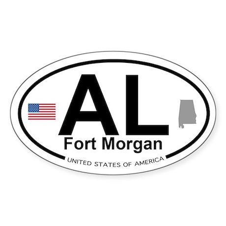 Fort Morgan Sticker (Oval)