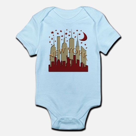 New York City Skyline hot Infant Bodysuit