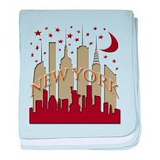 New York City Skyline hot baby blanket