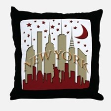 New York City Skyline hot Throw Pillow