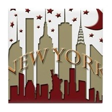 New York City Skyline hot Tile Coaster
