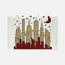 New York City Skyline hot Rectangle Magnet