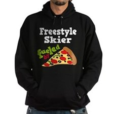 Freestyle Skier Pizza Hoodie