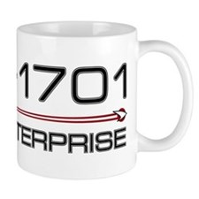 USS Enterprise 2009 Dark Small Mug