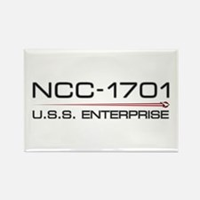 USS Enterprise 2009 Dark Rectangle Magnet