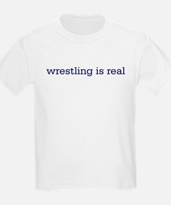Wrestling is real Kids T-Shirt