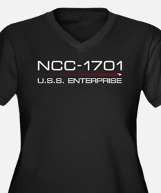 USS Enterprise 2009 Light Women's Plus Size V-Neck