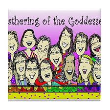 Gathering of the Goddesses Tile Coaster