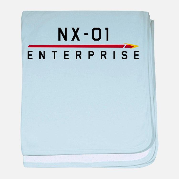 NX-01 Enterprise Dark baby blanket