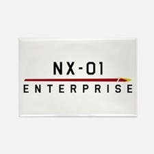NX-01 Enterprise Dark Rectangle Magnet