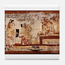 mayan painting Tile Coaster