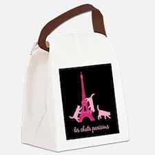 Cats of Paris Canvas Lunch Bag