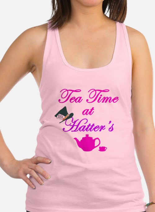 Tea Time at Hatters Racerback Tank Top