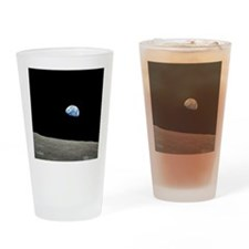 Earth Rise From Moon Drinking Glass