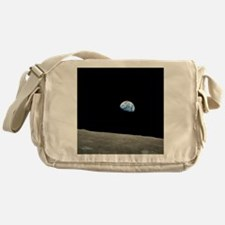 Earth Rise From Moon Messenger Bag