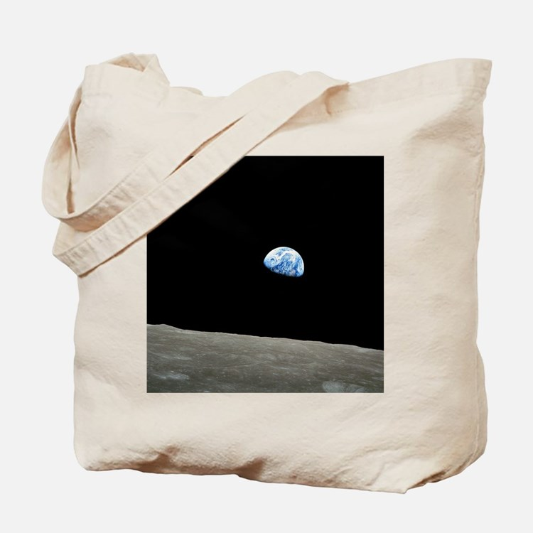 Earth Rise From Moon Tote Bag