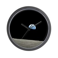 Earth Rise From Moon Wall Clock