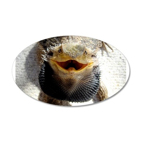 Bearded Dragon 35x21 Oval Wall Decal