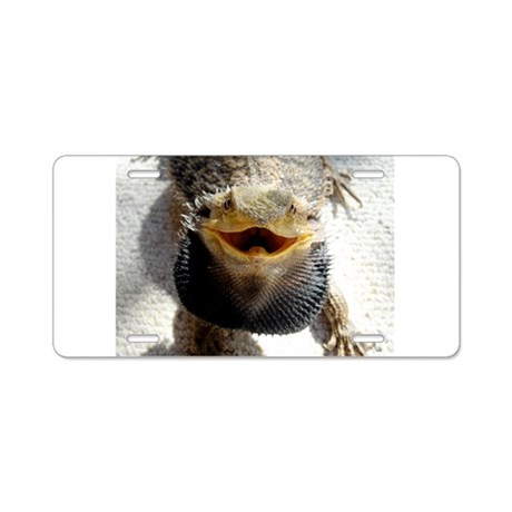 Bearded Dragon Aluminum License Plate