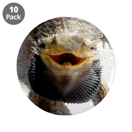 "Bearded Dragon 3.5"" Button (10 pack)"