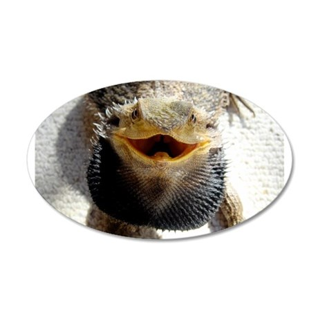 Bearded Dragon 20x12 Oval Wall Decal
