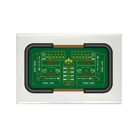 craps table Rectangle Magnet