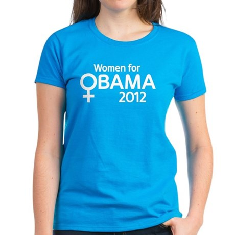 Women for Obama 2012 Women's Dark T-Shirt