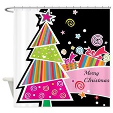 Artistic Christmas Shower Curtain