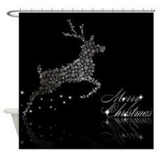 Diamond Christmas Shower Curtain