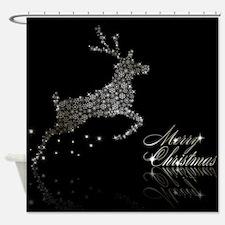 Diamond Christmas Shower Curtain