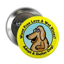 """Yellow Lab 2.25"""" Button (10 pack)"""