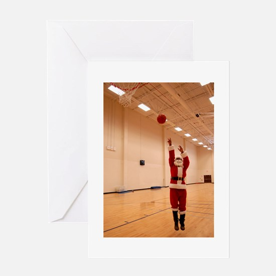 Basketball Santa Greeting Card