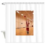 Basketball Santa Shower Curtain